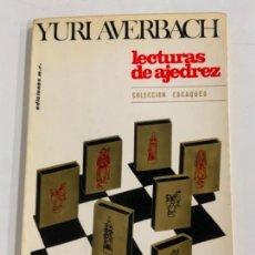 Coleccionismo deportivo: LECTURAS DE AJEDREZ - YURI AVERBACH. Lote 277708208