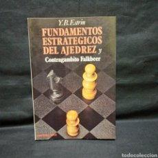 Coleccionismo deportivo: FUNDAMENTOS ESTRATEGICOS DEL AJEDREZ CONTRAGAMBITO FALKBEER - Y B ESTRIN - MARTÍNEZ ROCA 1985. Lote 278883188