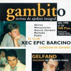 Coleccionismo deportivo: AJEDREZ. REVISTA GAMBITO 23 1998. Lote 280106543