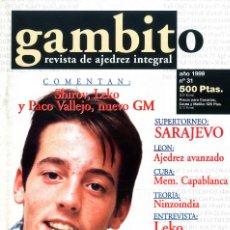 Coleccionismo deportivo: AJEDREZ. REVISTA GAMBITO 31 1999. Lote 280106793