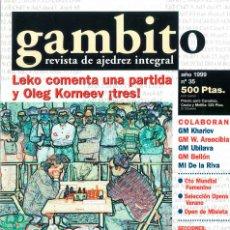 Coleccionismo deportivo: AJEDREZ. REVISTA GAMBITO 35 1999. Lote 280106908