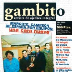 Coleccionismo deportivo: AJEDREZ. REVISTA GAMBITO 36 1999. Lote 280107023
