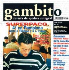 Coleccionismo deportivo: AJEDREZ. REVISTA GAMBITO 38 2000. Lote 280108183