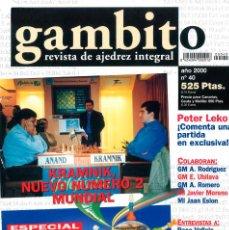 Coleccionismo deportivo: AJEDREZ. REVISTA GAMBITO 40 2000. Lote 280108268