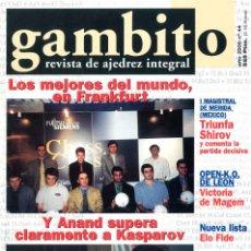 Coleccionismo deportivo: AJEDREZ. REVISTA GAMBITO 44 2000. Lote 280108468