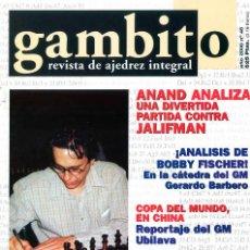 Coleccionismo deportivo: AJEDREZ. REVISTA GAMBITO 46 2000. Lote 280108548