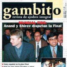Coleccionismo deportivo: AJEDREZ. REVISTA GAMBITO 49 2001. Lote 280108608