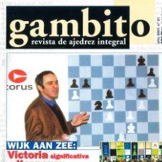 Coleccionismo deportivo: AJEDREZ. REVISTA GAMBITO 51 2001. Lote 280108988