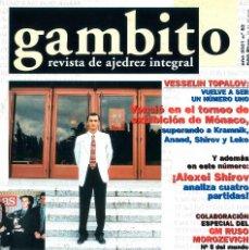 Coleccionismo deportivo: AJEDREZ. REVISTA GAMBITO 53 2001. Lote 280109068