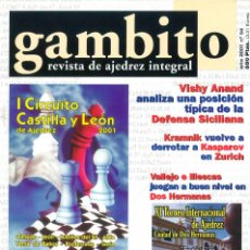 Coleccionismo deportivo: AJEDREZ. REVISTA GAMBITO 54 2001. Lote 280109148