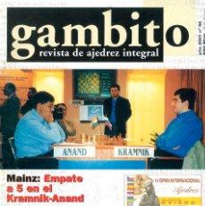 Coleccionismo deportivo: AJEDREZ. REVISTA GAMBITO 56 2001. Lote 280109263