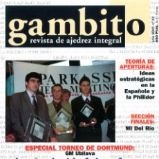 Coleccionismo deportivo: AJEDREZ. REVISTA GAMBITO 57 2001. Lote 280109333