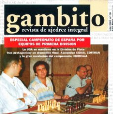 Coleccionismo deportivo: AJEDREZ. REVISTA GAMBITO 58 2001. Lote 280109378