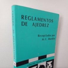 Colecionismo desportivo: REGLAMENTOS DE AJEDREZ - MC BURDIO - COL RICARDO AGUILERA. Lote 283355203
