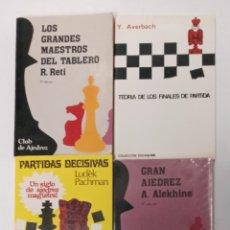 Coleccionismo deportivo: LOTE DE 4 LIBROS DE AJEDREZ. Lote 295026148