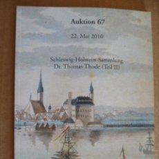 Libros: LIBRO EN ALEMAN; AUKTION 67 - 22 DE MAYO 2010 SCHRAMM (VÉR FOTOS). Lote 32603281