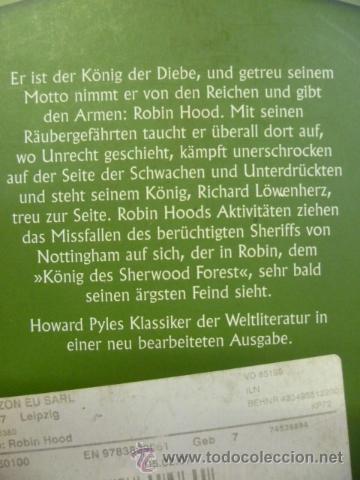 Libros: ROBIN HOOD. HOWARD PYLE. unipart, 256 pag. (en aleman) - Foto 2 - 35052638