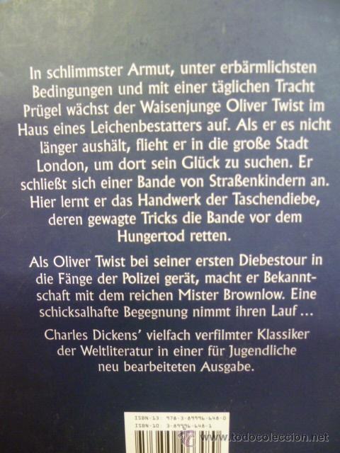 Libros: OLIVER TWIST. CHARLES DICKENS. unipart (en aleman) - Foto 2 - 111933839