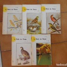 Libros: 5 LIBROS,LE MONDE OISEUX,NUMEROS,1,5,7,8 Y 12,AÑO 1973,ALEMAN. Lote 107919387