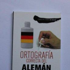 Libros: ORTOGRAFÍA CORRECTA DEL ALEMÁN. Lote 122341627