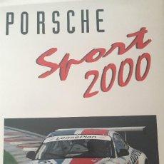 Libros: PORSCHE SPORT 2000 ULAICH UPIEETZ. ESPECTACULARES FOTOGRAFIAS. Lote 159256566