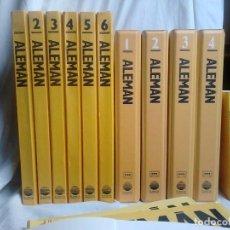 Livres: CURSO DE ALEMÁN PLANETA-AGOSTINI COMPLETO (6 TOMOS + 4 ESTUCHES CON 34 CASSETTES + 2 DICCIONARIOS). Lote 192341186