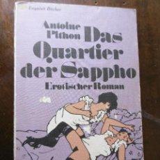 Libros: DAS QUARTIER DER SAPPHO. Lote 199265957