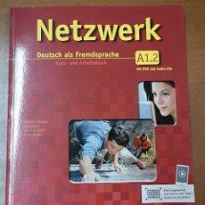 Libros: NETZWERK A1. DEUTSCH ALS FREMDSPRACHE (EJERCICIOS + CD + DVD) - VOLUMEN 2. Lote 218400423