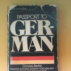 Libros: PASTPORT TO GERMAN CHARLES BERLITZ. Lote 285815658