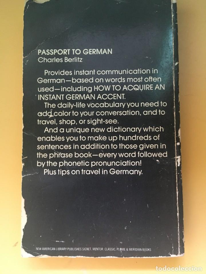 Libros: Pastport to GERMAN Charles Berlitz - Foto 2 - 285815658