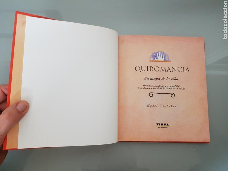 Libros: QUIROMANCIA SU MAPA DE LA VIDA HAZ EL WHITAKER TIKAL EDIC. MUY RARO - Foto 4 - 112813184