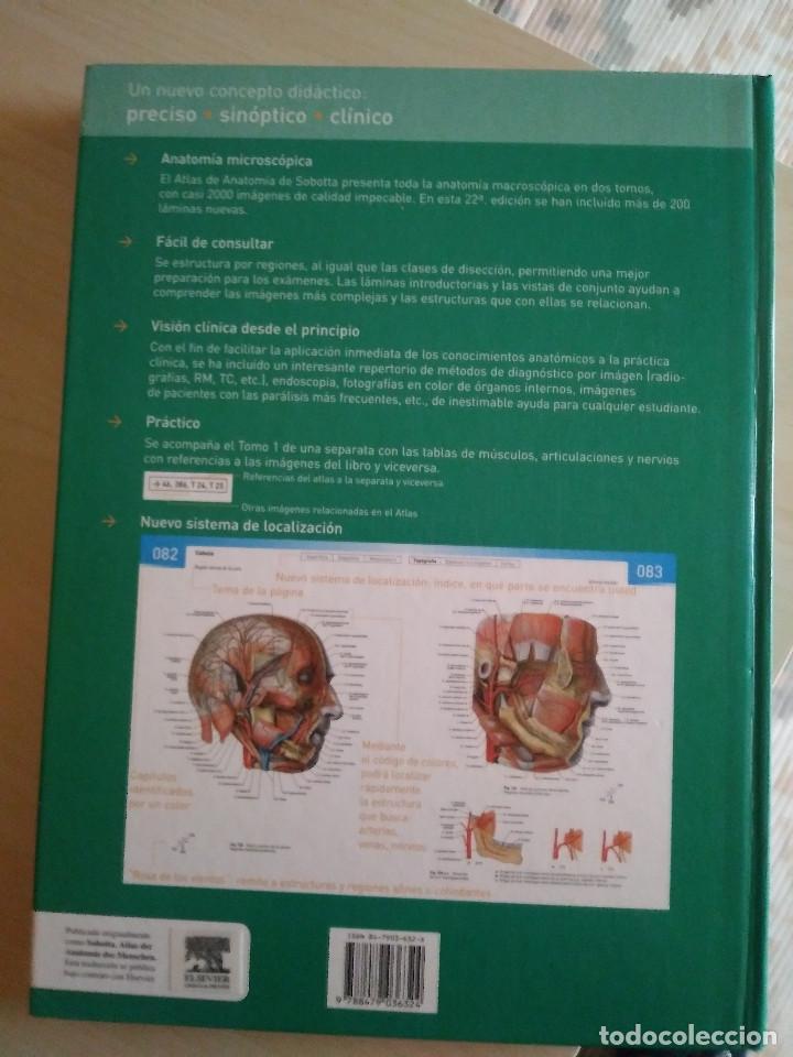 Libros: ATLAS DE ANATOMÍA HUMANA SOBOTTA TOMOS 1 Y 2 , 22 Ed. - Foto 2 - 225578895