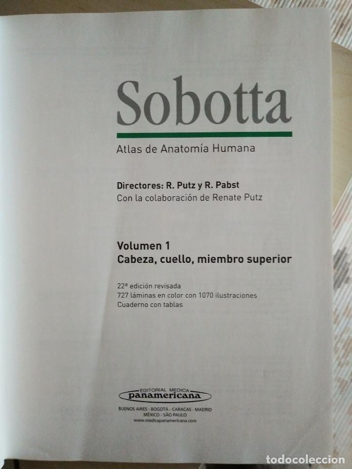 Libros: ATLAS DE ANATOMÍA HUMANA SOBOTTA TOMOS 1 Y 2 , 22 Ed. - Foto 3 - 225578895