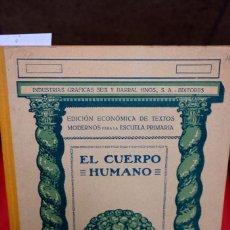Libros: EL CUERPO HUMANO.ED. ECONOMICA DE TEXTOS MODERNOS PARA LA ESCUELA PRIMARIA. Lote 245562925