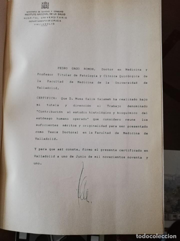 Libros: TESIS DOCTORAL UNIVERSIDAD DE VALLADOLID ESTOMAGO HUMANO - Foto 2 - 245919640