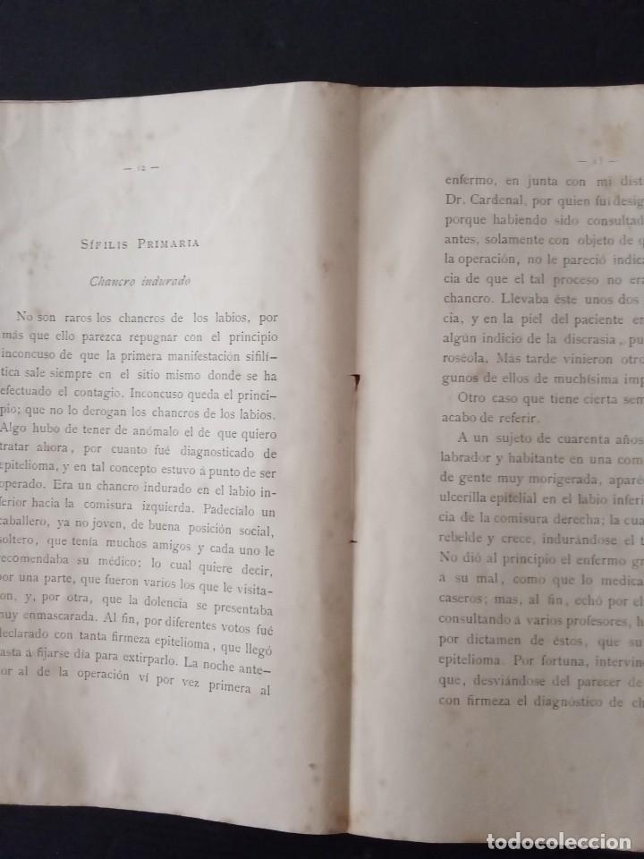 Libros: Varios casos de sífilis -Dr.Juan Soler y Buscalla. - Foto 2 - 257758165