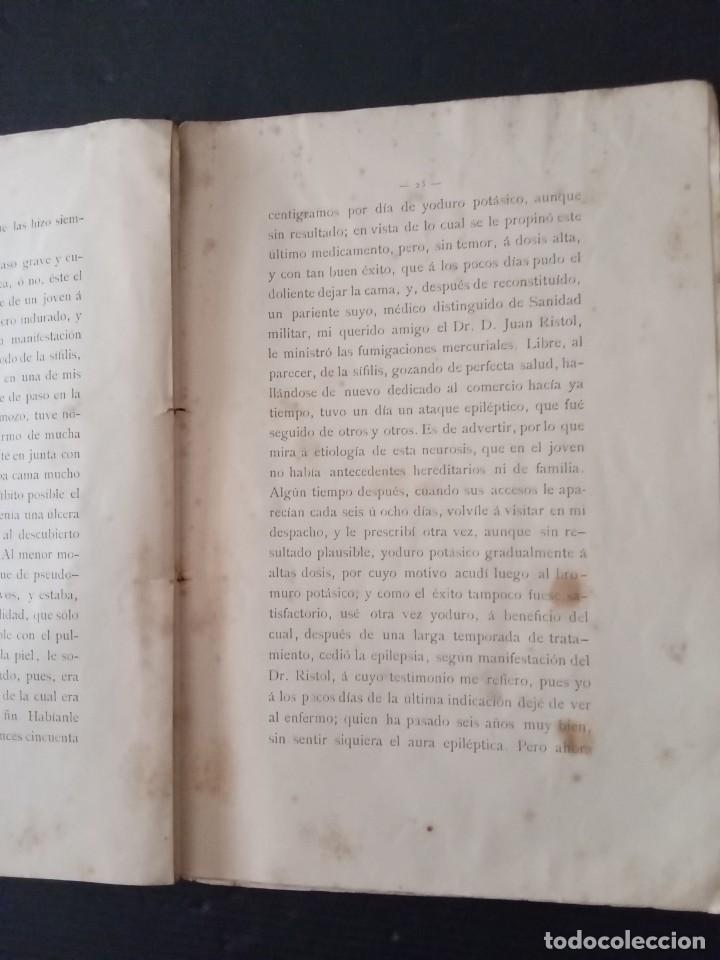 Libros: Varios casos de sífilis -Dr.Juan Soler y Buscalla. - Foto 3 - 257758165