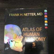 """Libros: LIBRO """"ATLAS OF HUMAN ANATOMY"""" EN INGLÉS, AUTOR FRANK NETTER. Lote 260441760"""