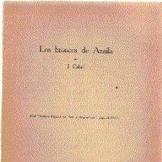 Libros antiguos: LOS BRONCES DE AZAILA, POR CABRÉ AGUILÓ. ARCHIVO ESPAÑOL DE ARTE Y ARQUEOLOGÍA, 1925.. Lote 26591772