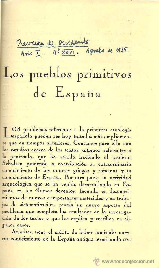 * ANTROPOLOGÍA * LOS PUEBLOS PRIMITIVOS DE ESPAÑA / [PEDRO BOSCH GIMPERA] - 1925 (Libros Antiguos, Raros y Curiosos - Ciencias, Manuales y Oficios - Arqueología)