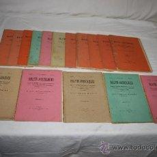 Libros antiguos: 1763- 'BOLETÍN ARQUEOLÓGICO SOCIEDAD ARQUEOLÓGICA TARRACONENSE' 16 FASCÍCULOS DE 1901/1908.. Lote 28348659