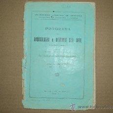 Libros antiguos: PROGRAMA ARQUEOLOGIA Y HISTORIA DEL ARTE.. Lote 31556823