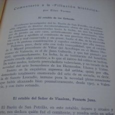 Libros antiguos: ELIAS TORMO: COMENTARIO A LA 'FILIACION HISTORICA. SEPARATA DEL ARCH ESPAÑOL DE ARTE Y ARQUEOLOGIA,. Lote 33925648