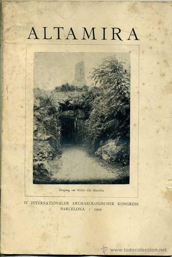 OBERMAIER : ALTAMIRA (1929) (Libros Antiguos, Raros y Curiosos - Ciencias, Manuales y Oficios - Arqueología)