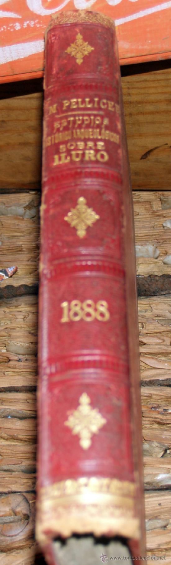 Libros antiguos: estudios historico-arqueologicos sobre iluro, 1888, media piel, mirar fortos - Foto 5 - 36664951