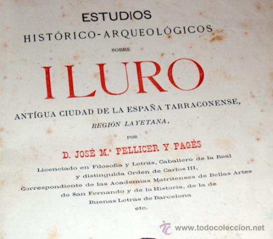 Libros antiguos: estudios historico-arqueologicos sobre iluro, 1888, media piel, mirar fortos - Foto 3 - 36664951