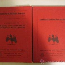 Libros antiguos: MEMORIAS DE HISTORIA ANTIGUA, TOMOS II Y III. UNIVERSIDAD DE OVIEDO. Lote 36828214