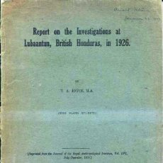 Libros antiguos: REPORT ON THE INVESTIGATIONS AT LUBAANTUN, BRITISH HONDURAS IN 1926 - ARQUEOLOGIA MAYA. Lote 41452971