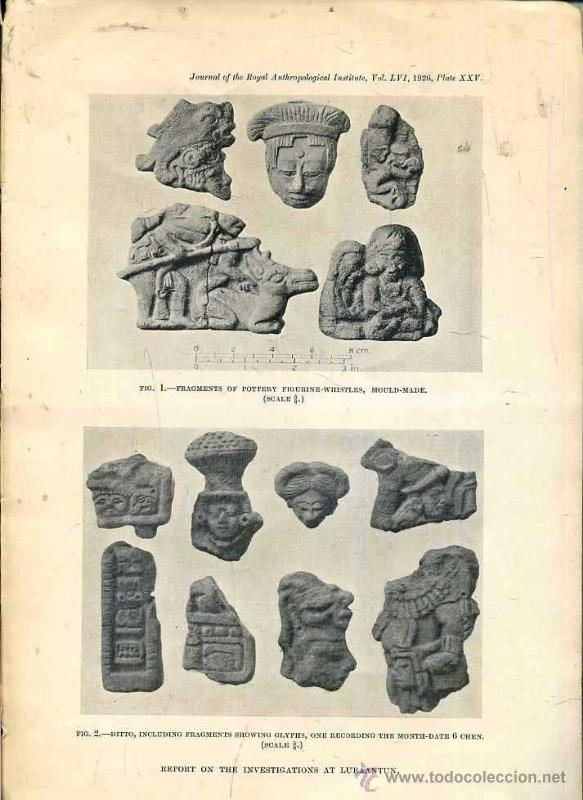 Libros antiguos: REPORT ON THE INVESTIGATIONS AT LUBAANTUN, BRITISH HONDURAS IN 1926 - ARQUEOLOGIA MAYA - Foto 2 - 41452971