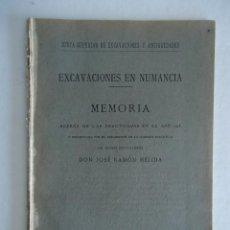Libros antiguos: SORIA.'EXCAVACIONES EN NUMANCIA. MEMORIA DE LAS PRACTICADAS EN 1915' JOSE RAMON MELIDA. 1916. Lote 42791591